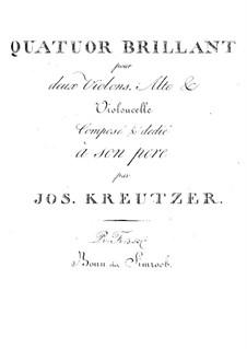 Quartett für Streicher in A-Dur: Quartett für Streicher in A-Dur by Joseph Kreutzer