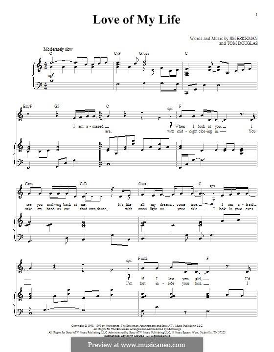 Love of My Life: Für Stimme und Klavier (oder Gitarre) by Tom Douglas