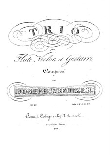 Trio für Flöte, Violine und Gitarre Nr.4 in C-Dur: Trio für Flöte, Violine und Gitarre Nr.4 in C-Dur by Joseph Kreutzer