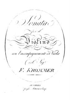 Sonate für Violine und Bratsche in D-Dur, P XVI:4: Sonate für Violine und Bratsche in D-Dur by Franz Krommer