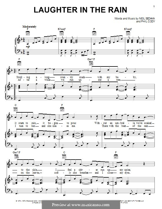 Laughter in the Rain: Für Stimme und Klavier (oder Gitarre) by Philip Cody