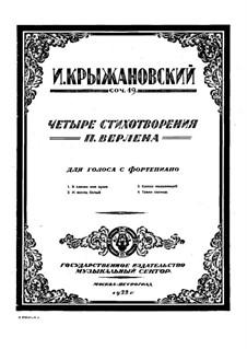 Vier Lieder, Op.19: Vier Lieder by Ivan Krischanowskij