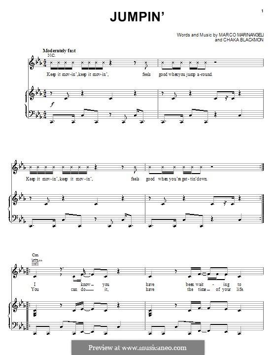Jumpin' (Keke Palmer): Für Stimme und Klavier (oder Gitarre) by Chaka Blackmon, Marco Marinangeli