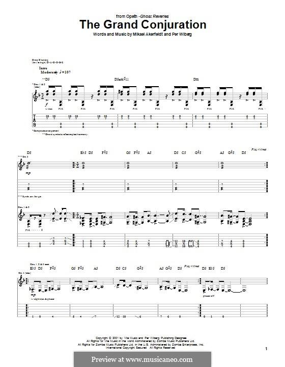 The Grand Conjuration (Opeth): Für Gitarre mit Tab by Mikael Akerfeldt, Per Wiberg