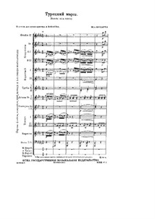 Türkisches Rondo: Für Orchestra by Wolfgang Amadeus Mozart