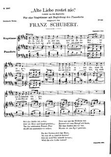 Alte Liebe rostet nie, D.477: H-Dur by Franz Schubert