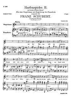 Harfenspieler II, D.479 Op.12 No.2: Harfenspieler II by Franz Schubert