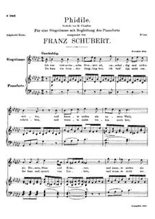 Phidile, D.500: Ges-Dur by Franz Schubert