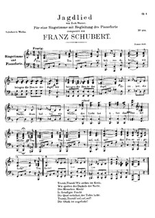 Jagdlied, D.521: F-Dur by Franz Schubert
