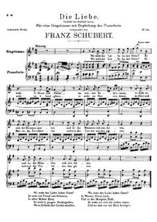 Die Liebe, D.522: G-Dur by Franz Schubert
