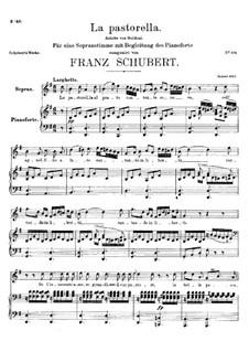 La Pastorella al Prato, D.528: La Pastorella al Prato by Franz Schubert