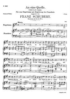 An eine Quelle, D.530 Op.109 No.3: A-Dur by Franz Schubert