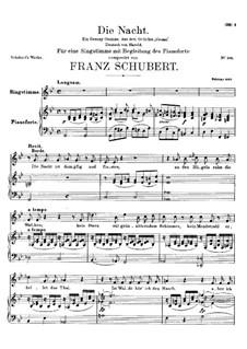 Die Nacht, D.534: Für Stimme und Klavier by Franz Schubert