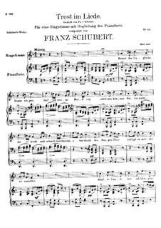 Trost im Liede, D.546: F-Dur by Franz Schubert