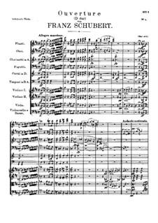 Ouvertüre für Orchester in D-Dur, D.556: Ouvertüre für Orchester in D-Dur by Franz Schubert