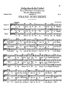 Selig durch die Liebe, D.55: Selig durch die Liebe by Franz Schubert