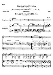 Nach einem Gewitter, D.561: F-Dur by Franz Schubert