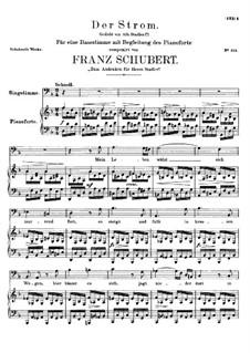 Der Strom, D.565: D-moll by Franz Schubert