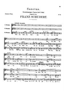 Sanctus, D.56: Sanctus by Franz Schubert
