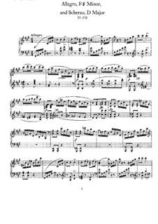 Allegro und Scherzo, D.570: Für Klavier by Franz Schubert
