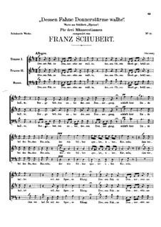 Dessen Fahne Donnerstürme wallte, D.58: Dessen Fahne Donnerstürme wallte by Franz Schubert