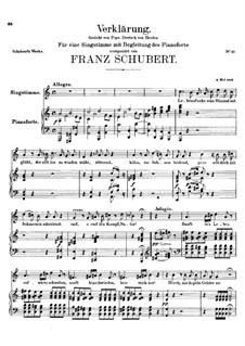 Verklärung, D.59: A-moll by Franz Schubert