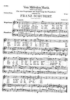 Vom Mitleiden Mariä, D.632: G-moll by Franz Schubert