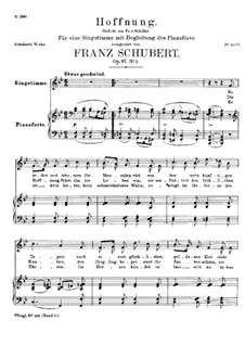 Hoffnung, D.637 Op.87 No.2: B-Dur by Franz Schubert
