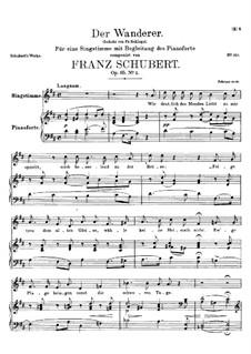 Der Wanderer, D.649 Op.65 No.2: D-Dur by Franz Schubert