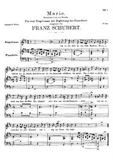 Marie, D.658: D-Dur by Franz Schubert
