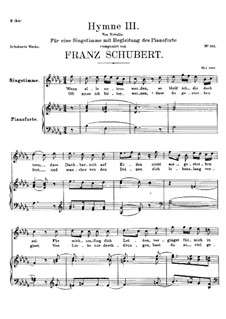 Hymne III für Stimme und Klavier, D.661: Des-Dur by Franz Schubert
