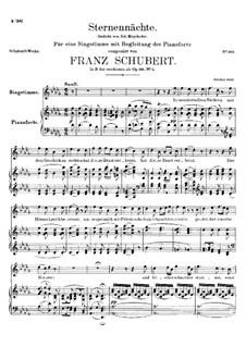 Die Sternennächte, D.670 Op.165 No.2: Des-Dur by Franz Schubert