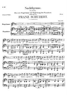 Nachthymne, D.687: D-Dur by Franz Schubert