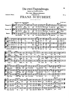 Die zwei Tugendwege, D.71: Die zwei Tugendwege by Franz Schubert