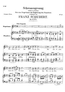 Schwanengesang für Stimme und Klavier, D.744 Op.23 No.3: Klavierauszug mit Singstimmen by Franz Schubert