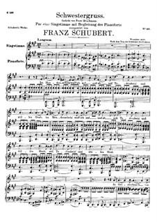 Schwestergruss, D.762: Fis-moll by Franz Schubert
