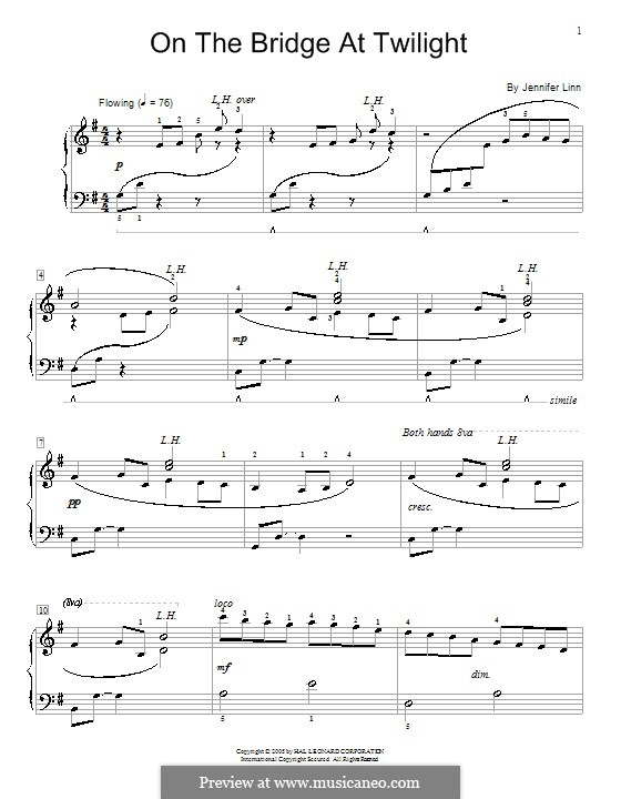 On the Bridge at Twilight: Für Klavier by Jennifer Linn