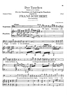 Der Taucher, D.77: D-moll by Franz Schubert