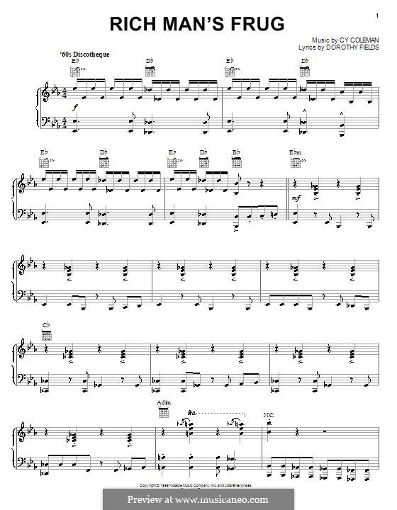 Rich Man's Frug: Für Stimme und Klavier (oder Gitarre) by Cy Coleman