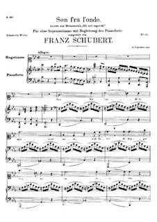 Son fra l'onde. Ariette aus 'Gli orti esperidi' von Metastasio, D.78: Son fra l'onde. Ariette aus 'Gli orti esperidi' von Metastasio by Franz Schubert