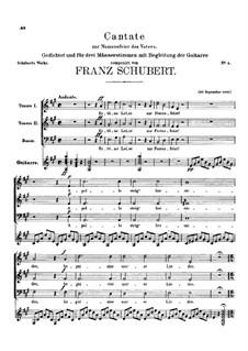 Kantate zur Namensfeier des Vaters, D.80: Für Trio by Franz Schubert