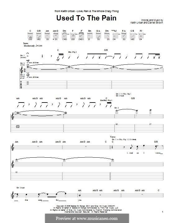 Used to the Pain: Für Gitarre mit Tabulatur by Darrell Brown