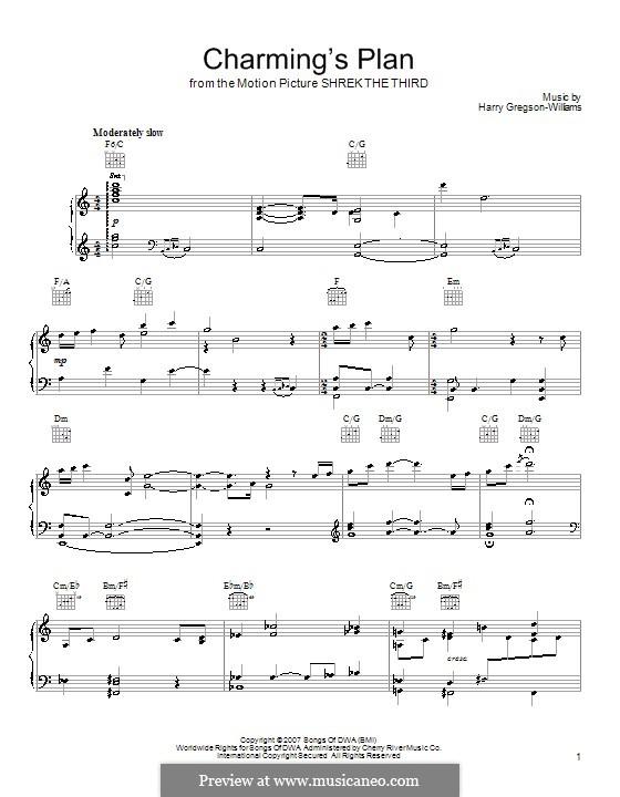 Charming's Plan: Für Stimme und Klavier (oder Gitarre) by Harry Gregson-Williams