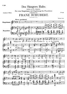 Des Sängers Habe, D.832: B-Dur by Franz Schubert