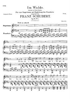 Im Walde, D.834 Op.93 No.1: Für Stimme und Klavier by Franz Schubert