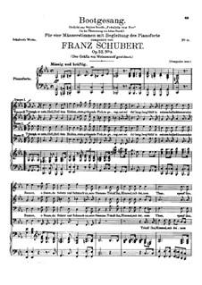 Bootgesang, D.835 Op.52 No.3: Bootgesang by Franz Schubert