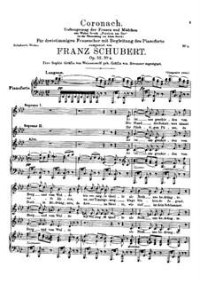 Coronach. Todtengesang der Frauen und Mädchen, D.836 Op.52 No.4: Coronach. Todtengesang der Frauen und Mädchen by Franz Schubert