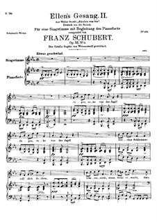 Ellen's Gesang II, D.838 Op.52 No.2: Für Stimme und Klavier by Franz Schubert