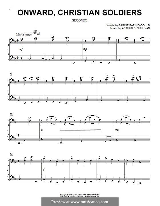 Onward, Christian Soldiers: Für Klavier, vierhändig by Arthur Sullivan