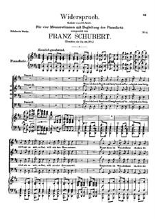 Widerspruch, D.865 Op.105 No.1: Widerspruch by Franz Schubert